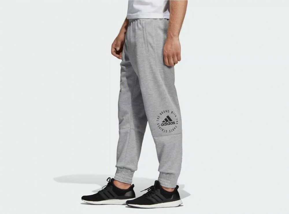 adidas Mens Joggers Grey ID Sport Sweat Pants Jog Jogging Tracksuit Bottoms NEW